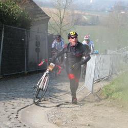 Francois au sommet du Paterberg