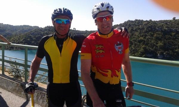 Olivier et Francois au lac de Ste Croix